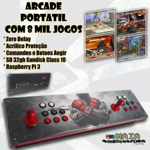 Controle arcade portátil - multijogo 8 mil jogos