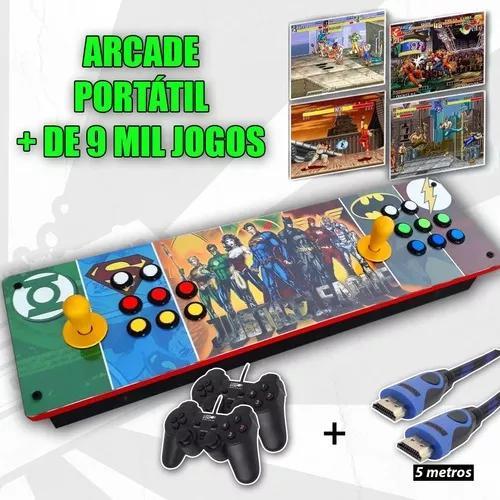 Controle arcade portátil - multijogo 8mil jogos raspberry