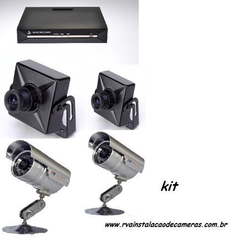 Dvr 4 canais + cameras infravermelho