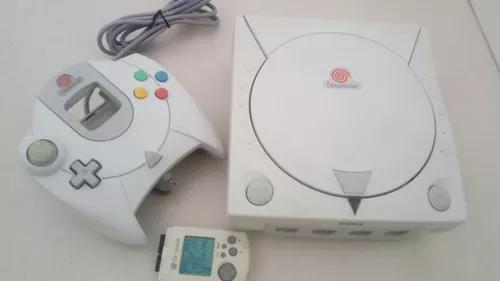 Dreamcast com controle, vmu, modbios, hd e jogos instalado