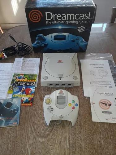 Dreamcast na caixa c/ manual funcionando 100%