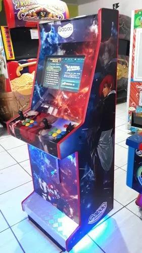Fliperama arcade adesivado com acrílico 19