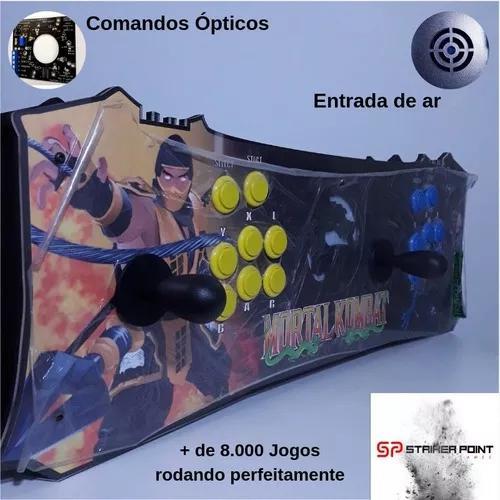 Fliperama arcade portatil com + 8 mil jogos