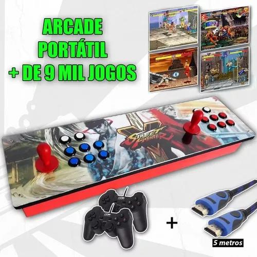 Fliperama portátil arcade multijogo 9mil jogos raspberry pi