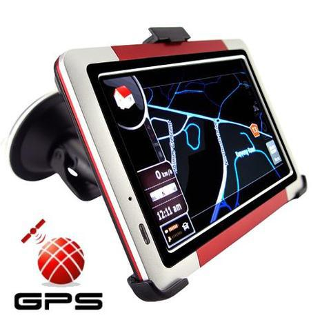 Gps 5 inch touch screen gps navigator with fm transmitter +