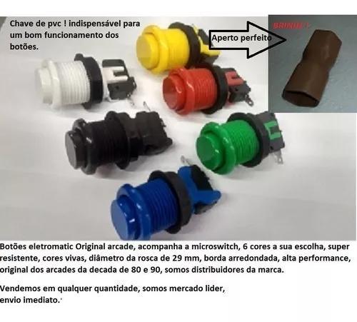 Kit 10 botões de nylon matic original + 1 comando + 1 gpio
