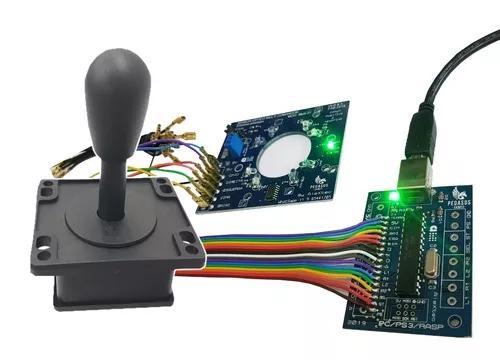 Kit placa sensoróptico + zerodelay+ manete + cabos/pc/ps3