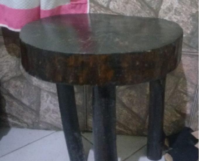 Mesa rústica de madeira + mesinha de centro rustica