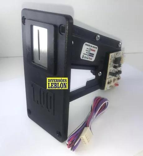 Moedeiro eletrônico de r$1,00 para jukebox fliperama arcade