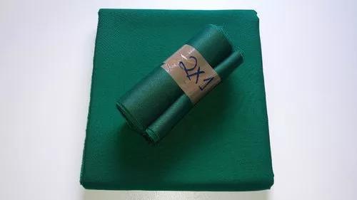 Pano tecido verde cortado 2x1 / mesa sinuca bilhar carteado