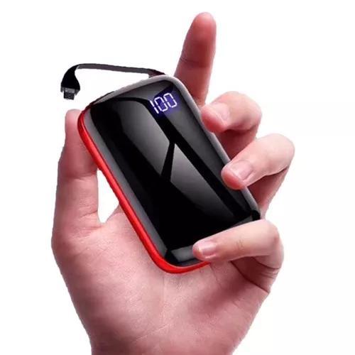 Portátil mini digital poder exibição diy poder banco caso