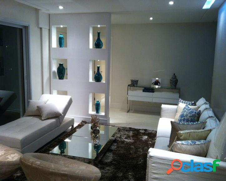 Apartamento em alphaville, 3 suítes, terraço gourmet integrado
