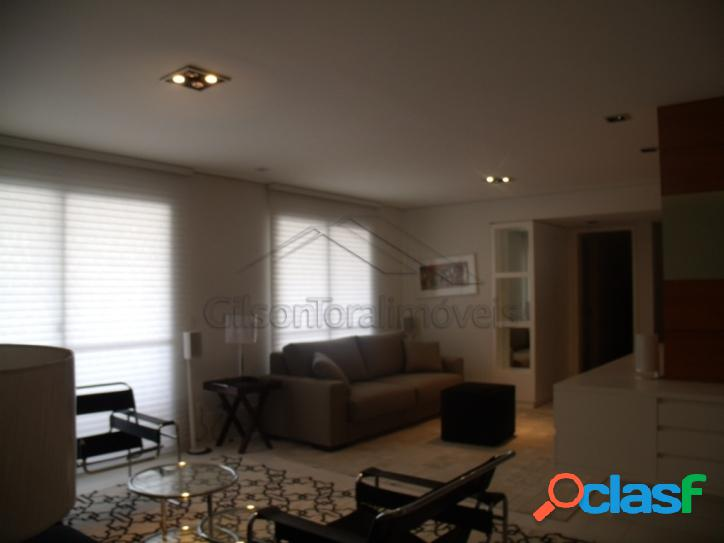 Apartamento mobiliado em alphaville - locação