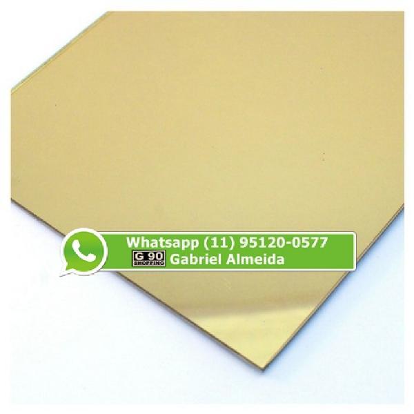 Acrílico espelhado dourado 1,00 x 2,00 2mm (r$:399,00).