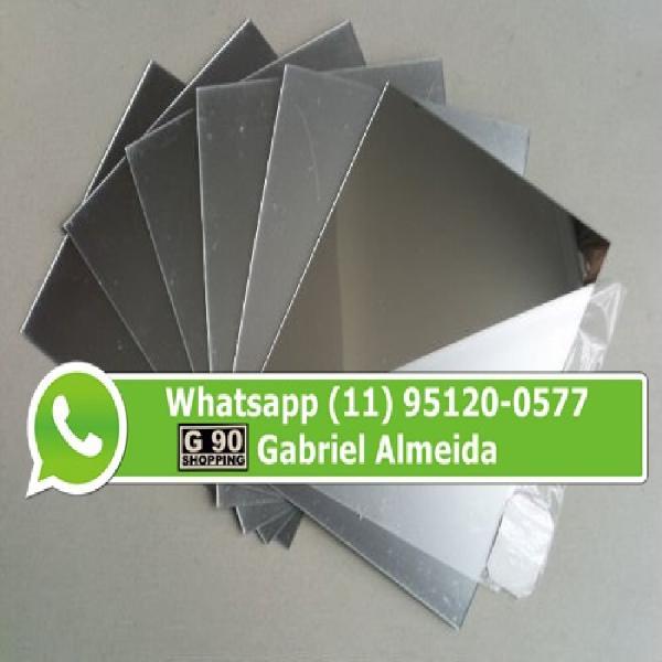 Acrílico espelhado prata 1.00 x 2.00 2mm (r$:295,00).