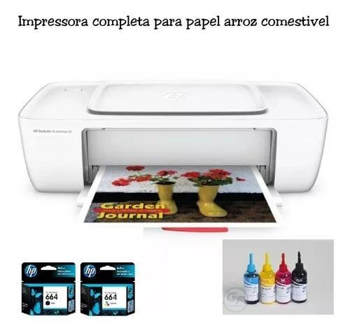 Impressora para papel arroz cartuchos recarregaveis + kit