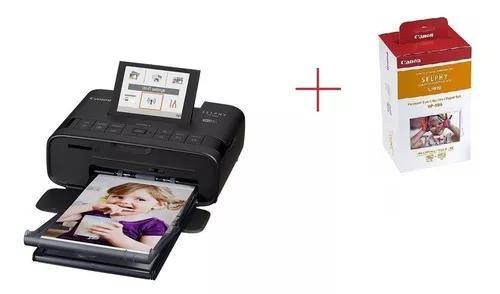 Kit impressora canon bivolt cp1300 108 papel foto e cartucho