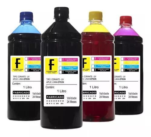 Kit recarga epson 4 litros p/ impressora l395 l450 l465 l380