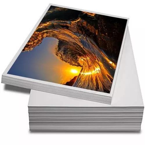 Papel a4 fotográfico adesivo 115g caixa 1000folhas + brinde