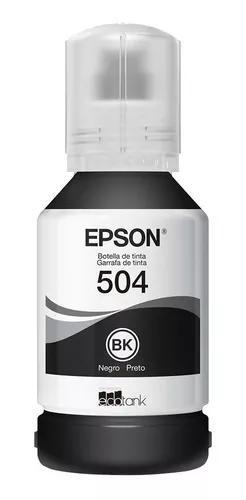 Tinta epson preta t504 original l6161 l4150 l4160 l6191