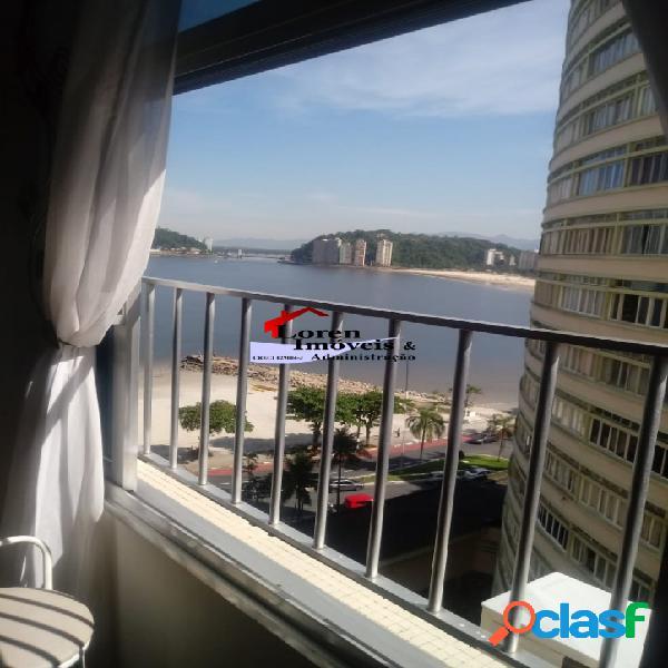 Apartamento 2 dormitórios vista para o mar com dependência!