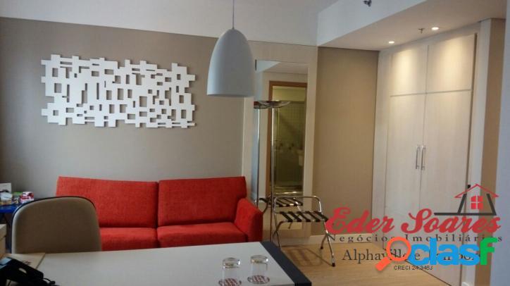 Flat mobiliado á venda em alphaville: comfort suítes
