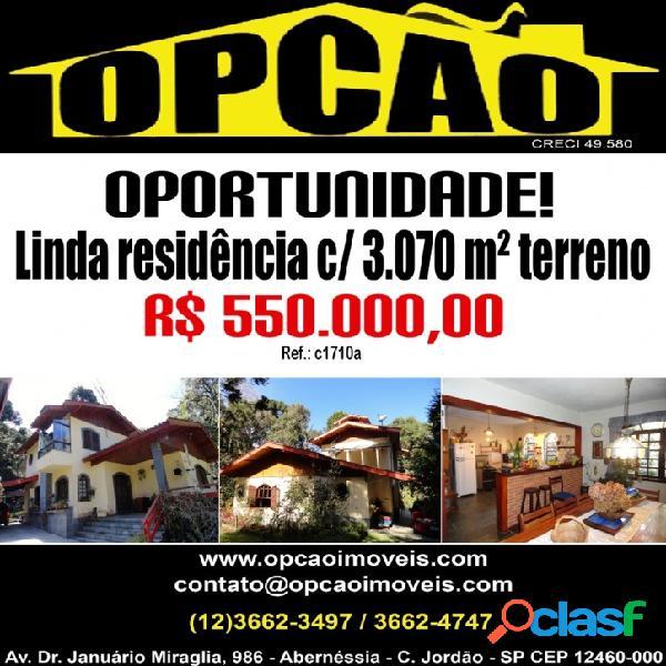 Vl. natal - linda residência c/ 3.070 m² de terreno