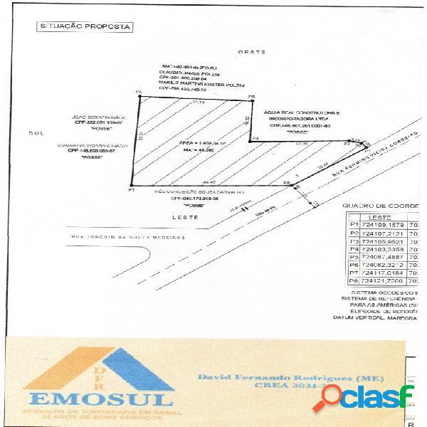 Vende-se terreno em itajai sc com projeto de edificação