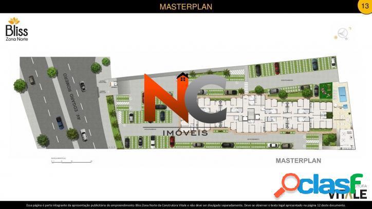 Bliss Zona Norte, Apartamento com 2 dorms - R$ 189 mil - 43,16m².