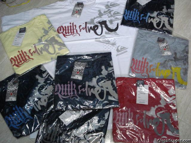 Camisetas, quiksilver, billabong, ecko, colcci, armani,