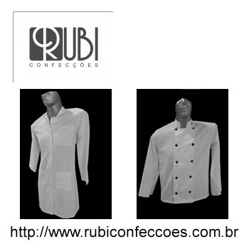 Rubi confeccoes - roupas profissionais - roupas brancas e