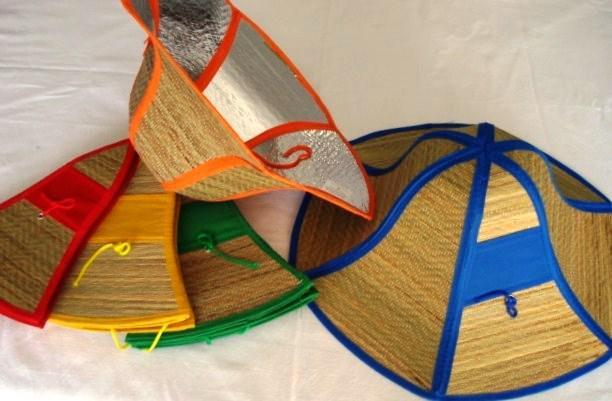 Chapeu de palha com protetor solar-atacado