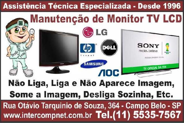 Assistência técnica de monitor tv lcd lg samsung