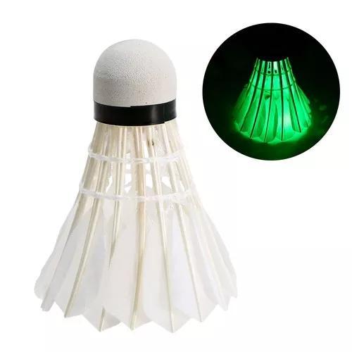 Brilho led petecas badminton pato pena escuro noite3pcs