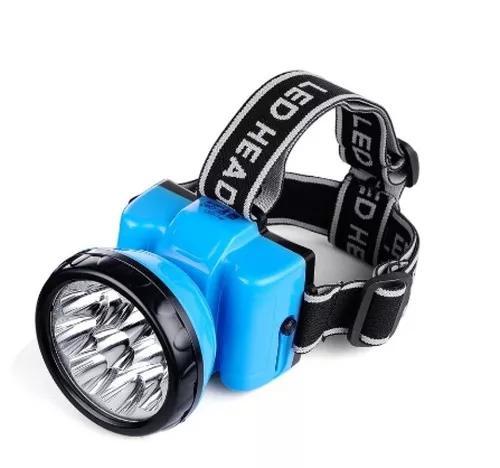 Kit 133 lanternas 12 leds de cabeca recar 1,0w azul bvl ldu