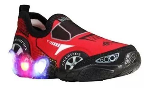 Tênis de led infantil carro menino bibi com frete grátis