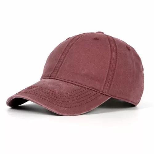 Unisex lavado viseira chapéu ajustável algodão boné