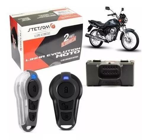 Alarme moto controle presença + partida elétrica - stetsom