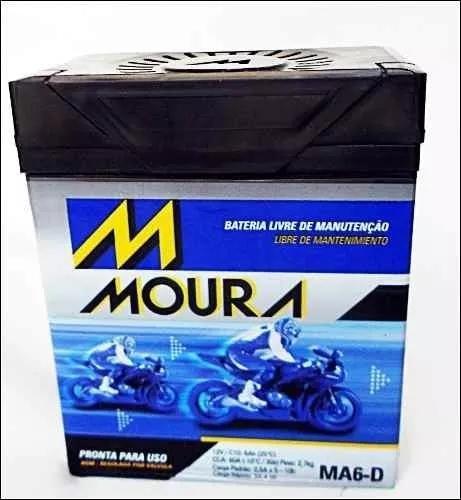 Bateria moto moura 6ah twister/tornado/falcon/cb300/cb300r