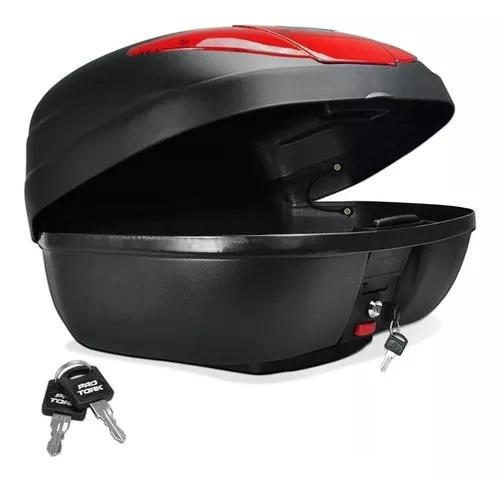 Bau moto caixa bauleto 45 litros verm pro tork +base