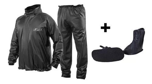 Capa chuva delta flex motoqueiro ++ polaina piraval preta