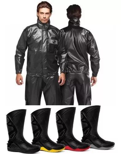 Capa de chuva alba europa + bota moto motoqueiro moto motoci