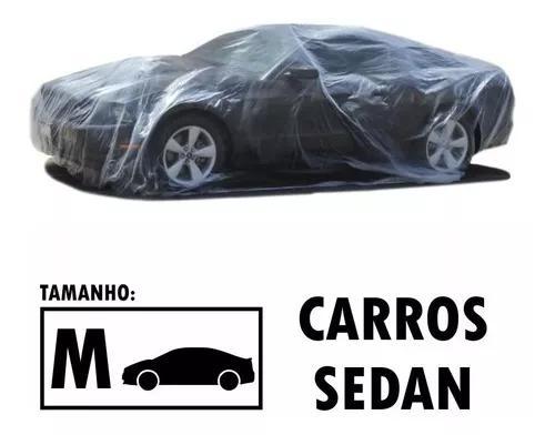Capa descartável transparente cobrir carros sedan média