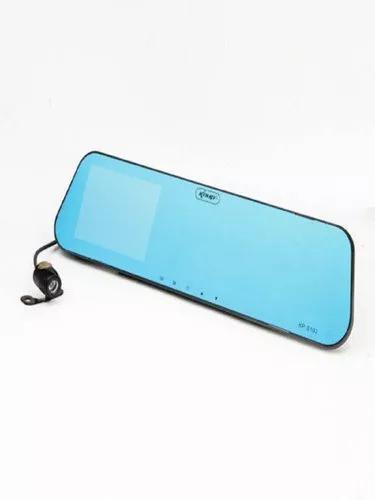 Espelho retrovisor tela 4,3 lcd + câmera ré + câmera