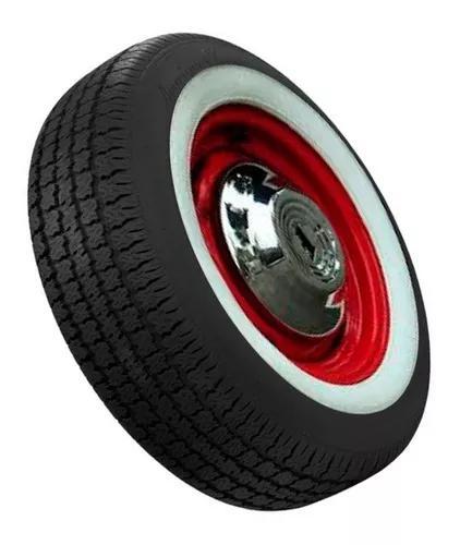 Jogo 4 pecs banda faixa branca vw fusca pneu aro 13 14 15 16