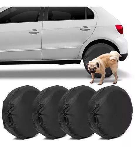 Kit capas protetoras pneu roda 60cm preta impermeável