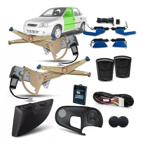 Kit vidro elétrico corsa classic diant + trava + alarme