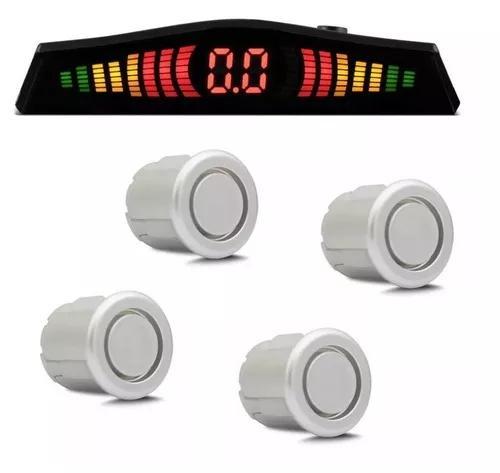 Sensor estacionamento ré 4 sensores sinal sonoro display