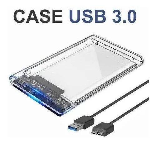 Case Hd Externo Notebook Ssd Usb 3.0 Transparente Sata 2.5