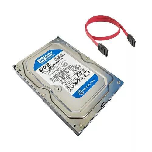 Hd 320gb western digital 7200 rpm - wd3200aajs + cabo sata